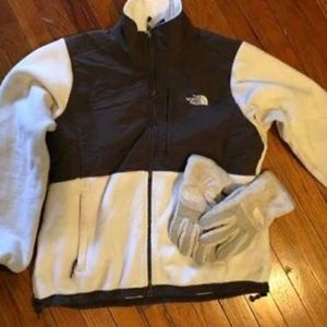 Women's North Face Jacket and Gloves